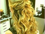Medium Hairstyles for Prom Half Up Half Down Prom Hairstyles Half Up Half Down Curly Medium Hair Hair Style Pics