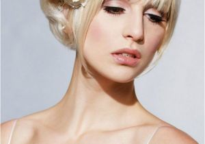 Medium Hairstyles Updos with Bangs Wedding Hairstyles for Short Hair