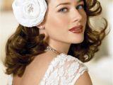Medium Length Curly Hairstyles for Weddings Medium Length Glamorous Curly Hairstyle for Wedding