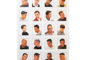 Mens Haircut Chart Black Barber Hairstyle Guide Poster Hairstyles by Unixcode