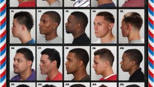 Mens Haircut Chart the Barber Hairstyle Guide Poster for Black Men