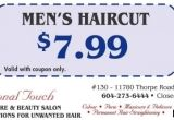 Mens Haircut Coupons Men S Haircut $7 99 at Professional touch Health