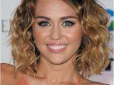 Miley Cyrus Bob Haircut Miley Cyrus Medium Wavy Casual Bob Hairstyle Dark Brunette