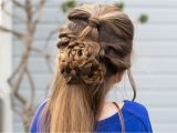 Mindy From Cute Girl Hairstyles Flower Half Up Hairstyle Tutorial Cute Girls Hairstyles