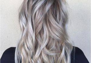 New Blonde and Brown Hairstyles Od Dark Hair with Silver Platinum Highlights