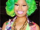 Nicki Minaj Curly Hairstyles Celebrity Hairstyles Nicki Minaj Messy Curly Hair Green