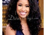 Nicki Minaj Curly Hairstyles Nicki Minaj Inspired Shoulder Length Curly Full Lace Human