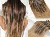 Ombre Hairstyles Blonde to Brown Großhandel Balayage Clip In Haarverlängerungen 4 Dunkelbraun