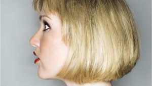 One Length Bob Haircut Messy One Length Bob Haircut with Layered Straight Bangs 2018