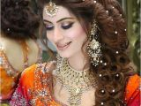 Pakistani Hairstyles for Weddings Pakistani Bridal Hairstyle 2016 for Mehndi Ceremony