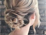 Party Hairstyles Hair Up Messy Textured Updo Bridal Hairstyle