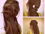 Party Hairstyles Half Up Half Down How to Flower Bun Chignon Make A Rose Hairstyles Updos Half Up