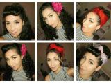 Pin Up Hairstyle for Curly Hair Pinup Easy 50s Hairstyles for Curly Hair Styles Naturally