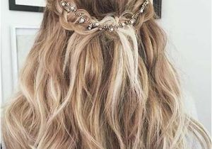 Prom Hairstyles Long Hair Half Up Curly Romantic Half Updo with A Hairpiece Prom Hairstyles