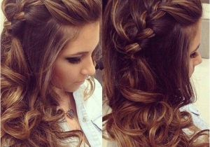 Prom Hairstyles Side Curls with Braid Braided Hairstyles with Curls Prom Long Hairstyle Ideas