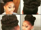 Protective Hairstyles Buns Bun Protective Style Hair Pinterest