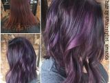 Purple N Black Hairstyles Image Result for Purple Streaks In Dark Brown Hair
