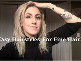 Quick and Easy Hairstyles for Fine Hair Quick and Easy Hairstyles for Fine Hair
