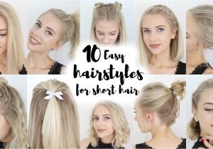 Quick and Easy Hairstyles for Medium Hair for School 10 Easy Hairstyles for Short Hair