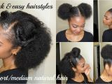 Quick and Easy Hairstyles for Natural Black Hair 5 Quick & Easy Hairstyles for Short Medium Natural Hair