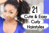 Quick and Easy Hairstyles for Naturally Curly Hair 21 Cute and Easy Curly Hairstyles
