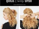 Quick and Easy Hairstyles for Naturally Curly Hair Quick Updo for Natural Curly Hair Pretty Designs