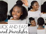 Quick and Easy Hairstyles for Short Black Hair 7 Quick and Easy Hairstyles for Natural Hair