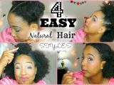 Quick and Easy Hairstyles for Short Black Hair Four Easy Quick Hairstyles for Short Medium Natural Hair