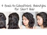 Quick and Easy Hairstyles for Short Hair for School 4 Easy 5 Min Back to School Work Hairstyles for Short Hair