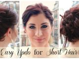 Quick and Easy Hairstyles for Short Thick Hair Easy Updo for Short Hair