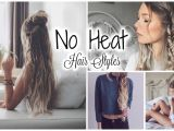 Quick and Easy No Heat Hairstyles Cute Easy No Heat Hairstyles