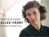 Quick and Easy Vintage Hairstyles the Hair Parlor Quick & Easy Vintage Hairstyle the
