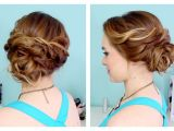 Quick and Easy Wedding Hairstyles Quick Side Updo for Prom or Weddings D