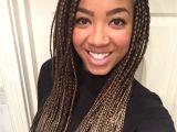 Quick Braided Hairstyles for Black Women Box Braids Medium Long Two tone Light Brown Golden