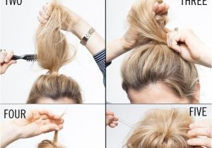 Quick Easy Hairstyles for Long Thin Hair Messy & Classy Chignon