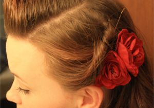 Quick Easy Pin Up Hairstyles Quick and Easy Retro Hairstyle
