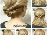 Quick Hair Up Hairstyles Easy French Twist Wedding Hair Tutorial