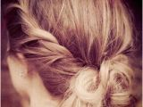Quick Hairstyles after Shower Give the Messy Bun A Little Makeover by Twisting the Sides and