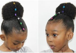 Quick Hairstyles for Little Black Girl Rainbow Bun with Cornrow Kids Hair Care & Styles