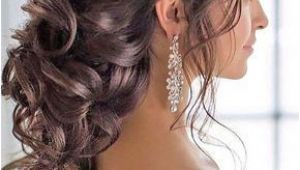 Quinceanera Hairstyles Hair Up Braided Loose Curls Low Updo Wedding Hairstyle Wedding