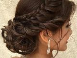 Quinceanera Hairstyles Hair Up Tasteful Updo with Braid for Wedding or formal Occasion