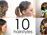 Really Quick and Easy Hairstyles 10 Quick & Easy Everyday Hairstyles In 5 Minutes