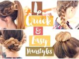 Really Quick and Easy Hairstyles How to 4 Quick & Easy Hairstyles