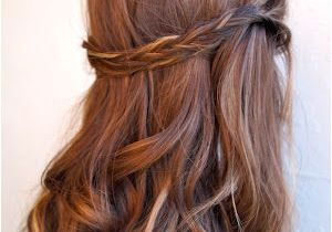 Red Half Up Hairstyles Auburn Copper Hair with Pretty Ribbon Highlights Cute Color but I