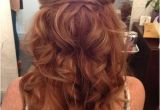 Red Half Up Hairstyles Love Wedding Hairstyle Long Hair Messy Curls Boho Curls Loose