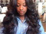 Sew In Weave Hairstyles Deep Wave Brazilian Loose Wave Loose Curl Hair S L A Y E D