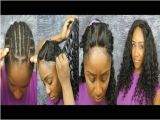 Sew In Weave Hairstyles Youtube Full Head Weave W Closure Sew In Step by Step