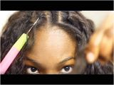 Sew In Weave Hairstyles Youtube Seun S No Leave Out Method Middle Part Full Sew In No Closure