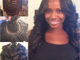 """Sew In Weave Updo Hairstyles Middle Part with My Signature Pin Curls Hairbyme"""""""