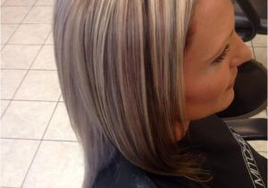 Short Hairstyles Chunky Highlights Chunky 3 tone Highlight and Lowlight Platinum Blonde Hair with